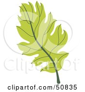 Royalty Free RF Clipart Illustration Of An Autumn Leaf Version 7 by Cherie Reve