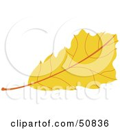 Royalty Free RF Clipart Illustration Of An Autumn Leaf Version 6 by Cherie Reve