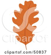 Royalty Free RF Clipart Illustration Of An Autumn Leaf Version 5 by Cherie Reve