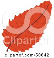 Royalty Free RF Clipart Illustration Of An Autumn Leaf Version 4 by Cherie Reve
