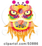 Royalty Free RF Clipart Illustration Of A Chinese Fortune Dragon by Cherie Reve #COLLC50886-0099