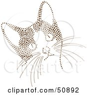 Royalty Free RF Clipart Illustration Of A Curious Kitten With A Brown Dot Pattern by Cherie Reve