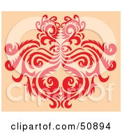 Royalty Free RF Clipart Illustration Of A Deco Pattern Version 3