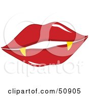 Royalty Free RF Clipart Illustration Of Womens Lips Version 1