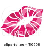 Royalty Free RF Clipart Illustration Of Womens Lips Version 6 by Cherie Reve