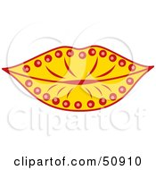 Royalty Free RF Clipart Illustration Of Womens Lips Version 5 by Cherie Reve