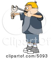 Boy Shooting A Slingshot Clipart
