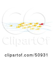 Royalty Free RF Clipart Illustration Of Crowd Of Swimming Goldfish by Cherie Reve