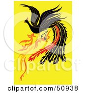 Flying Black Fantasy Phoenix