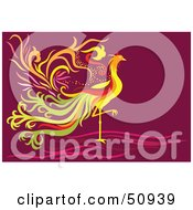 Royalty Free RF Clipart Illustration Of A Colorful Fantasy Phoenix by Cherie Reve #COLLC50939-0099