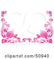 Royalty Free RF Clipart Illustration Of A Border Of Pink Flower Vines by Cherie Reve