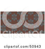 Royalty Free RF Clipart Illustration Of A Repeat Background Of Teal Wings On Brown by Cherie Reve