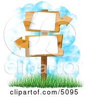 Blank Sign With Arrows Pointing In Opposite Directions Clipart by djart