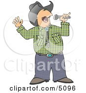 Cowboy Singing Country Music Clipart