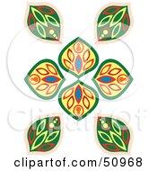 Royalty Free RF Clipart Illustration Of A Vintage Floral Deco Design