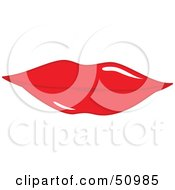 Royalty Free RF Clipart Illustration Of Womens Lips Version 7 by Cherie Reve