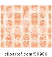 Royalty Free RF Clipart Illustration Of A Repeat Background Of Ornate Orange Designs by Cherie Reve