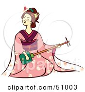 Royalty Free RF Clipart Illustration Of A Pretty Geisha Woman Version 6 by Cherie Reve