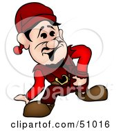 Royalty Free RF Clipart Illustration Of A Male Dwarf Version 2 by dero
