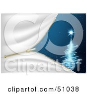Royalty Free RF Clipart Illustration Of A Blue Christmas Tree Background Version 6