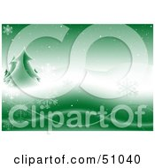 Royalty Free RF Clipart Illustration Of A Green Christmas Background Version 1