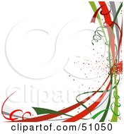 Clipart Illustration Of A Colorful New Year Or Christmas Ribbons On White by dero #COLLC51050-0053