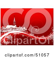 Royalty Free RF Clipart Illustration Of A Red Christmas Background Version 2 by dero