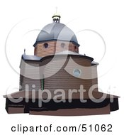 Royalty Free RF Clipart Illustration Of A Church Exterior Version 2