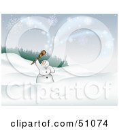 Royalty Free RF Clipart Illustration Of A Christmas Snowman Background Version 1
