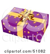Royalty Free RF Clipart Illustration Of A Wrapped Present Box Version 4 by dero