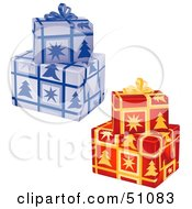 Royalty Free RF Clipart Illustration Of Stacked Presents Version 1 by dero