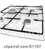 Royalty Free RF Clipart Illustration Of A Gas Kitchen Stove Top
