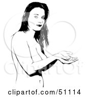 Royalty Free RF Clipart Illustration Of A Black And White Woman Version 4 by dero