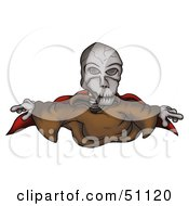 Royalty Free RF Clipart Illustration Of A Skeleton Ghost by dero