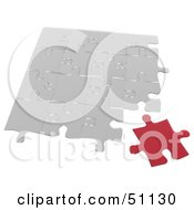 Royalty Free RF Clipart Illustration Of A Jigsaw Puzzle Piece Background Version 3