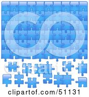 Royalty Free RF Clipart Illustration Of A Jigsaw Puzzle Piece Background Version 1