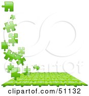 Royalty Free RF Clipart Illustration Of A Jigsaw Puzzle Piece Background Version 2