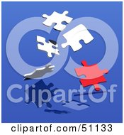 Royalty Free RF Clipart Illustration Of A Jigsaw Puzzle Piece Background Version 5