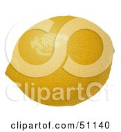 Royalty Free RF Clipart Illustration Of A Waxed Yellow Lemon Fruit