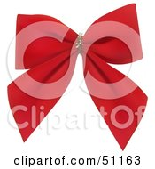 Clipart Illustration Of A Red Velvet Bow by dero