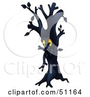 Clipart Illustration Of A Dark Ent Tree Version 2 by dero