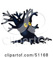 Clipart Illustration Of A Dark Ent Tree Version 1 by dero