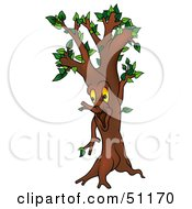 Royalty Free RF Clipart Illustration Of A Yellow Eyed Ent Tree Version 2 by dero