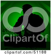 Royalty Free RF Clipart Illustration Of A Male DJ Version 3 by dero