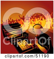Royalty Free RF Clipart Illustration Of A Male DJ Version 6