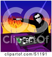 Royalty Free RF Clipart Illustration Of A Male DJ Version 12