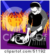 Royalty Free RF Clipart Illustration Of A Male DJ Version 8