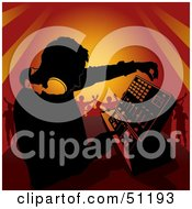 Royalty Free RF Clipart Illustration Of A Male DJ Version 2