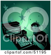 Royalty Free RF Clipart Illustration Of A Male DJ Version 13