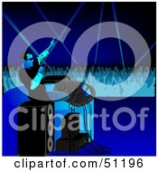Royalty Free RF Clipart Illustration Of A Male DJ Version 11